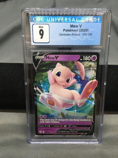 CGC Graded Pokemon Darkness Ablaze 2020 Mew V 069/189 - Mint 9