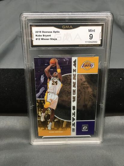 GMA Graded 2019-20 Donruss Optic Winner Stays KOBE BRYANT Lakers Basketball Card - MINT 9
