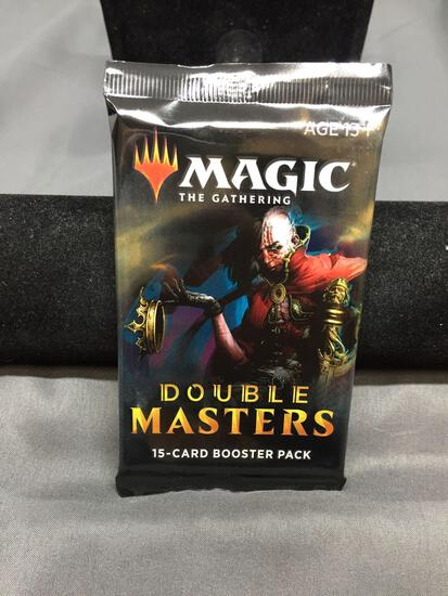 Factory Sealed Magic the Gathering DOUBLE MASTERS 15 Card Booster Pack - FOIL FORCE OF WILL?