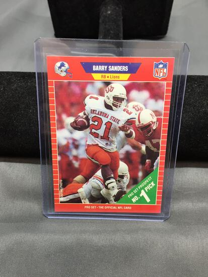 1989 Pro Set #494 BARRY SANDERS Lions ROOKIE Football Card