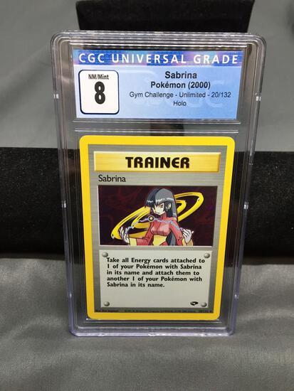 CGC Graded 2000 Pokemon Gym Challenge #20 SABRINA Holofoil Rare Trading Card - NM-MT 8