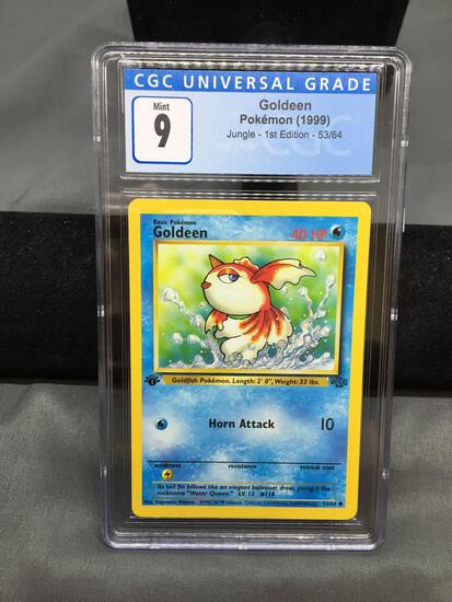 CGC Graded 1999 Pokemon Jungle 1st Edition #53 GOLDEEN Trading Card - MINT 9