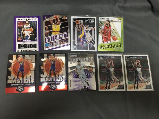 9 Card Lot of ANTHONY DAVIS Los Angeles Lakers Basketball Cards from Huge Collection