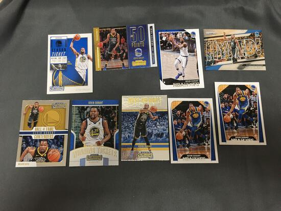 9 Card Lot of KEVIN DURANT Brooklyn Nets Basketball Cards from Huge Collection