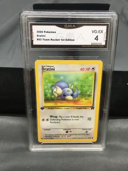 GMA Graded 2000 Pokemon Team Rocket 1st Edition #53 DRATINI Trading Card - VG-EX 4