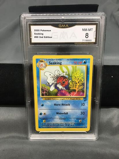 GMA Graded 2000 Pokemon Base 2 Set #60 SEAKING Trading Card - NM-MT 8