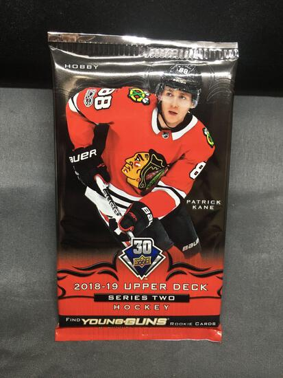 Factory Sealed 2018-19 Upper Deck Series 2 Hockey 8 Card Hobby Pack - Young Guns Rookie?