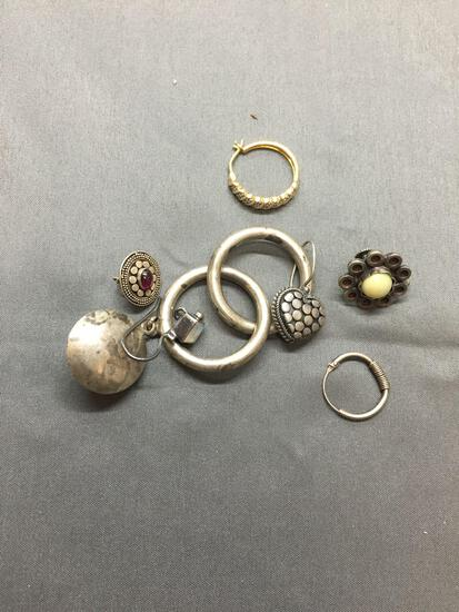 Sterling Silver Jewelry Scrap Lot Earrings - 25 Grams