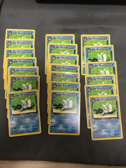 Lot of 20 Team Rocket Pokemon Starter Evolution Wartortle 46/82 Trading Cards