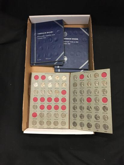 Tray Full of Whitman Coin Collector Books with Nickels - Unsearched Collection from Estate