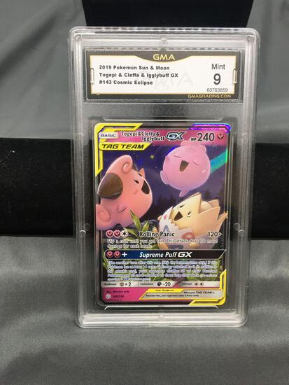 GMA Graded 2019 Pokemon Cosmic Eclipse TOGEPI & CLEFFA & IGGLYBUFF GZ Holofoil Rare Trading Card -
