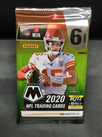 Factory Sealed 2020 Panini Mosaic Football 6 Card Retail Pack - Tua Tagovailoa Rookie?