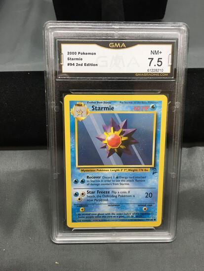 GMA Graded 2000 Pokemon Base 2 Set #94 STARMIE Trading Card - NM+ 7.5