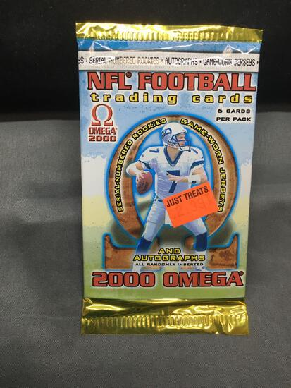 Factory Sealed 2000 Pacific Omega 6 Card Retail Pack - Tom Brady Rookie?