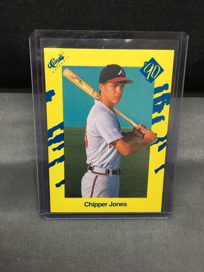 Rare 1990 Classic #T92 CHIPPER JONES Braves First Rookie Baseball Card