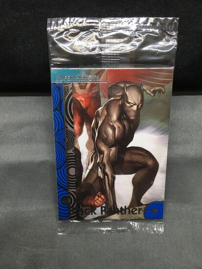 Sealed 2013 Marvel Avengers PROMO Trading Cards with BLACK PANTHER on TOP - WOW