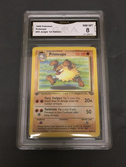 GMA Graded 1999 Pokemon Jungle 1st Edition #43 PRIMEAPE Trading Card - NM-MT 8
