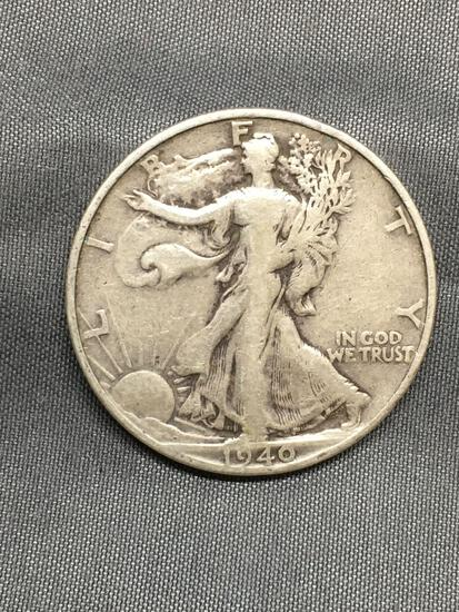 1940-S United States Walking Liberty Silver Half Dollar - 90% Silver Coin