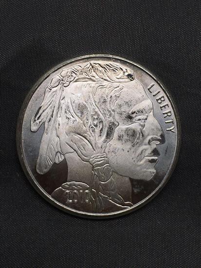 1 Troy Ounce .999 Fine Silver Indian Head Buffalo Silver Bullion Round Coin