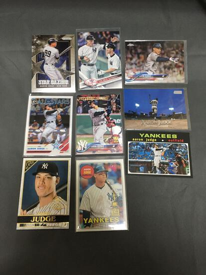 9 Card Lot of AARON JUDGE New York Yankees Baseball Cards from Huge Collection