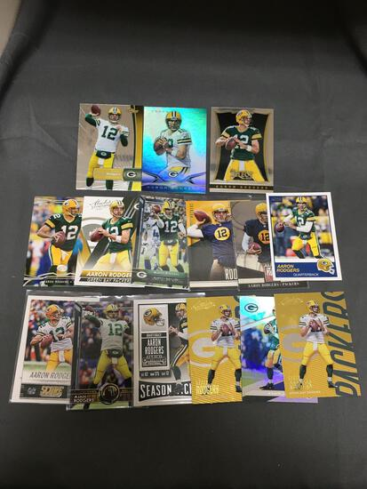 15 Card Lot of AARON RODGERS Green Bay Packers Football Cards from Huge Collection