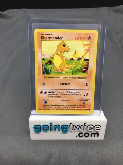 1999 Pokemon Base Set Shadowless #46 CHARMANDER Trading Card