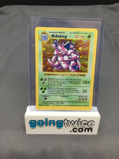 1999 Pokemon Base Set Shadowless #11 NIDOKING Holofoil Rare Trading Card