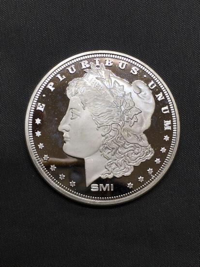 1 Troy Ounce .999 Fine Silver SMI Morgan Dollar Style Silver Bullion Round Coin
