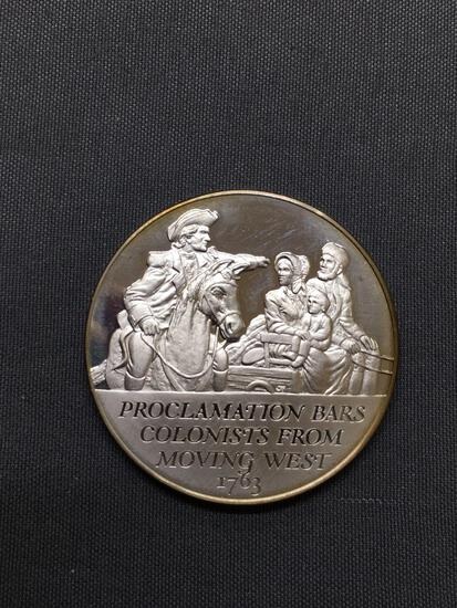 14.4 Grams .925 Sterling Silver History of the American Revolution Proof Silver Bullion Round Coin