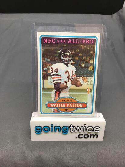 1980 Topps #160 WALTER PAYTON Bears Vintage Football Card