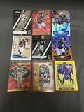 9 Card Lot of SERIAL NUMBERED Sports Cards with Stars and Rookies from Huge Collection