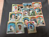 15 Card Lot of 1972 Topps Vintage Baseball Cards from Estate Collection
