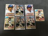 7 Card Lot of REGGIE JACKSON Vintage 1970's Baseball Cards from Estate Collection