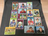 15 Card Lot of 1972 Topps Vintage Football Cards from Estate Collection