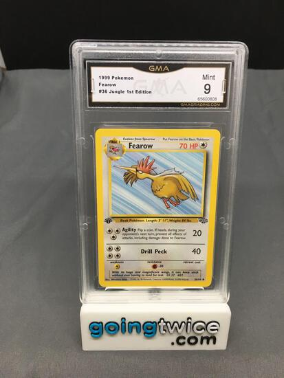 GMA Graded 1999 Pokemon Jungle 1st Edition #36 FEAROW Trading Card - MINT 9
