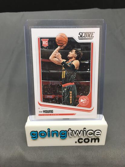 2018-19 Panini Score #673 TRAE YOUNG Hawks ROOKIE Basketball Card