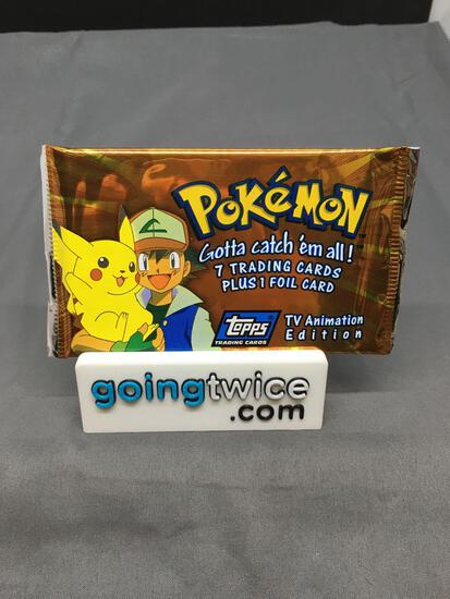 Factory Sealed 1999 Topps Pokemon TV Animation Edition 8 Card Pack - RARE