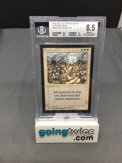 BGS Graded Magic the Gathering Beta Int'l Collectors Edition WRATH OF GOD Card - NM-MT+ 8.5