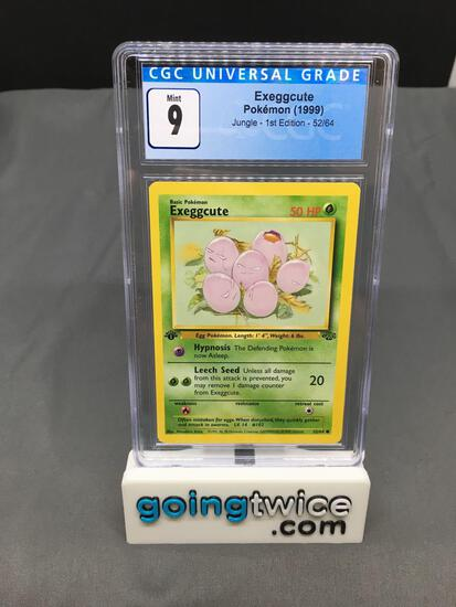 CGC Graded 1999 Pokemon Jungle 1st Edition #52 EXEGGCUTE Trading Card - MINT 9