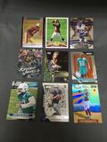 9 Card Lot of FOOTBALL ROOKIE CARDS - Mostly Modern Years with Stars and Prospects!