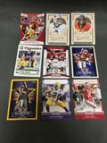 9 Card Lot of Football ROOKIE Cards and Prospects - NEWER YEARS - with Stars from Huge Collection