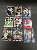 9 Card Lot of Baseball ROOKIE Cards and Prospects - NEWER YEARS - with Stars from Huge Collection