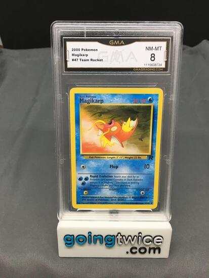 GMA Graded 2000 Pokemon Team Rocket #47 MAGIKARP Trading Card - NM-MT 8