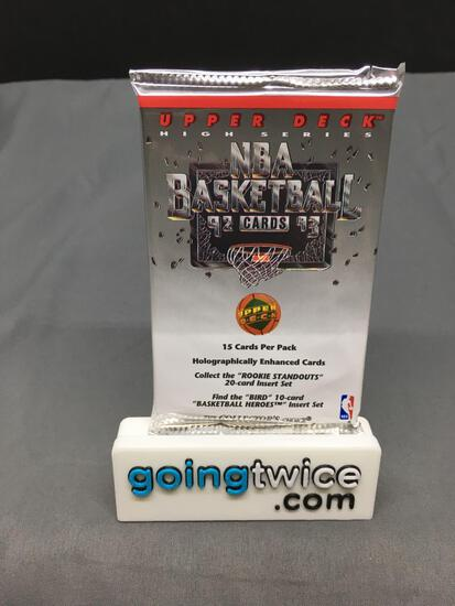 Factory Sealed 1992-93 Upper Deck High Series Basketball 15 Card Pack - Shaquille O'Neal Rookie?
