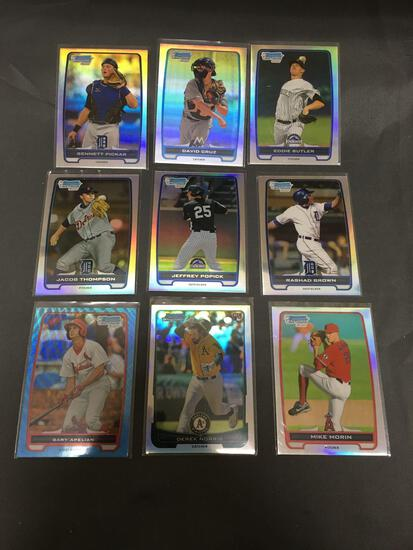 Lot of 9 Sports Cards from High End Collection - Look for Rookies, Stars, Inserts, Refractors +
