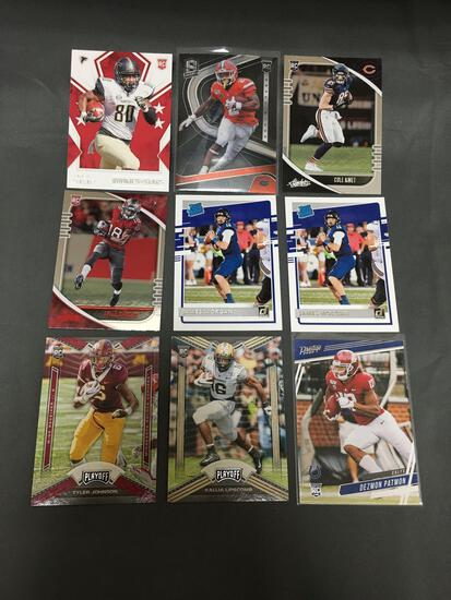 9 Card Lot of FOOTBALL ROOKIE CARDS - Mostly from Modern Years - FUTURE STARS & MORE!!!