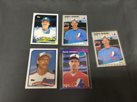 5 Card Lot of 1989 RANDY JOHNSON Mariners Diamondbacks ROOKIE Baseball Cards