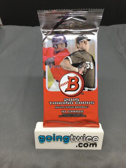 Factory Sealed 2015 Bowman Baseball 10 Card Pack - Prospects and Rookie Cards!