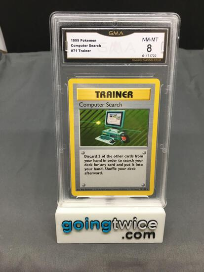 GMA Graded 1999 Pokemon Base Set Shadowless #71 COMPUTER SEARCH Trading Card - NM-MT 8
