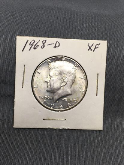 1968-D United States Kennedy Silver Half Dollar - 40% Silver Coin from ENORMOUS ESTATE